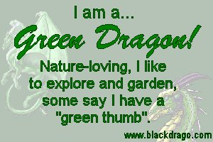 Green dragons love nature and often have a green thumb when it comes to plants