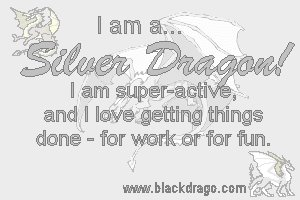 Silver dragons are known for getting things done, both for work and for play